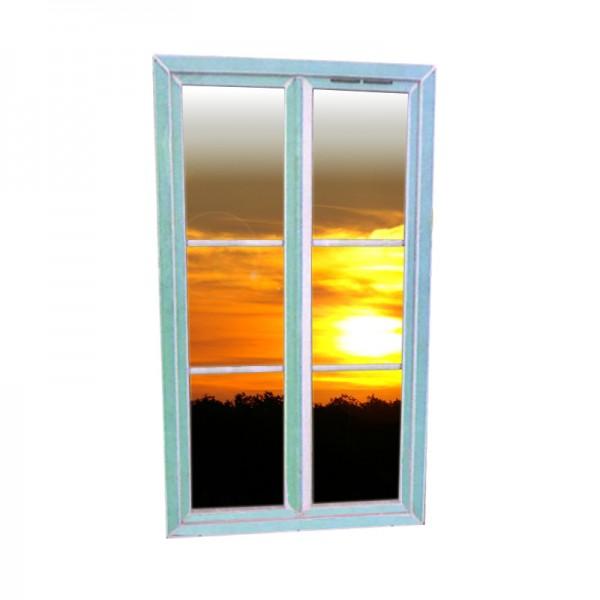 Fenêtre PVC blanc avec petit bois