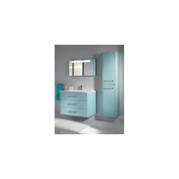 decotec armoire toilette avec miroir et clairage 100cm. Black Bedroom Furniture Sets. Home Design Ideas