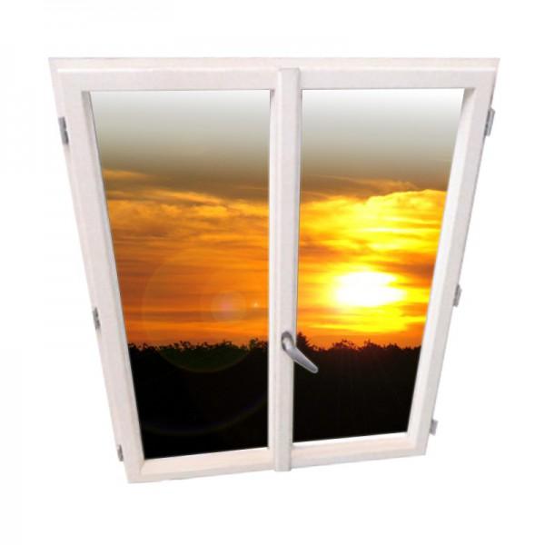 Fen tre alu 126x103 cm for Ventilation chambre sans fenetre