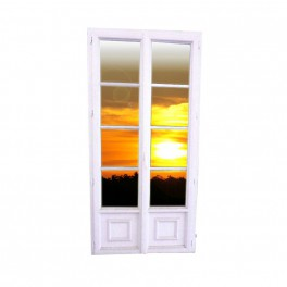 porte fen tre 2 vantaux 3 rangs petits bois partie basse 218x107. Black Bedroom Furniture Sets. Home Design Ideas