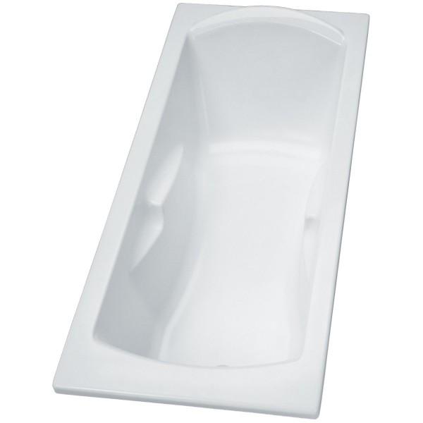 Baignoire encastre ou poser 170x70 ulysse2 blanc p106201 - Baignoire encastre ...