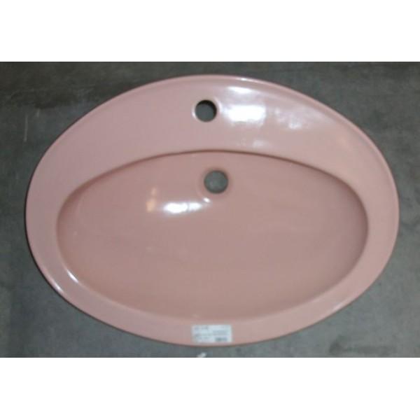 Lavabo selles for Lavabo rose salle bain
