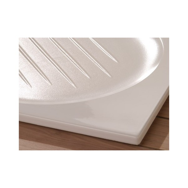 Receveur de douche amalfi allia carre 90x90cm c ramique - Receveur de douche extra plat ceramique ...