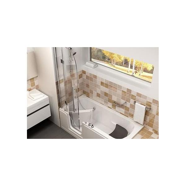 excellent fabulous combin baignoire et douche porte riviera droite agrandir annul with combin. Black Bedroom Furniture Sets. Home Design Ideas