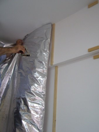 Pose isolant mince reflectherm travaux fut s for Isolation thermique mur interieur mince